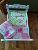 Custom Painted Doll Bed with bedding! in Bolingbrook, Illinois