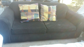 Black couch in Fort Riley, Kansas