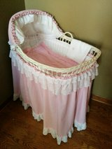 1930's Antique Wicker Bassinet- Decor or Doll Display? in Shorewood, Illinois