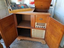 Mid-century Magnivox record player and radio console in Travis AFB, California