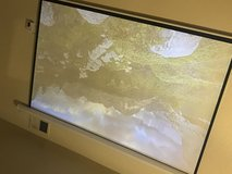 Projector and screen in Fort Irwin, California
