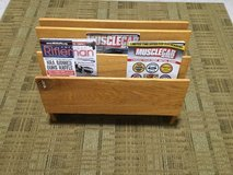 Beautiful Oak 3 Section Magazine Rack in San Clemente, California