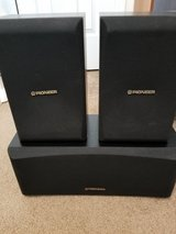 3 Pioneer Surround Bookshelf Speakers- 2 CS-X580-K, 1-CS-C280-K in Camp Lejeune, North Carolina