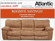 """*SALE* CATNAPPER """"TERRANCE"""" RECLINING COUCH - $699 in Cherry Point, North Carolina"""