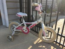 Girls' 12-inch bike with training wheels in Aurora, Illinois