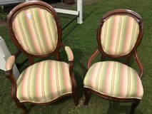His and hers Victorian chairs in Camp Lejeune, North Carolina