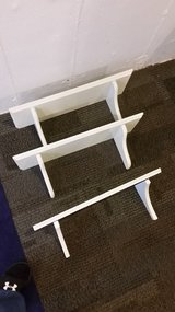 3 white shelves Pending PU in St. Charles, Illinois