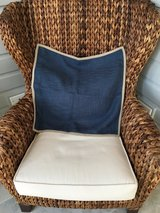 "UNUSED Pottery Barn Basketweave Pillow Cover - Blue 20"" x 20"" in St. Charles, Illinois"