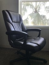 Black Leather Computer Chair in Kissimmee, Florida