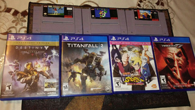 Ps4 games and super nintendo games in Barstow, California