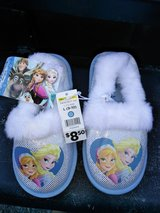 girls frozen slippers...excellent for Christmas in Fort Campbell, Kentucky