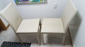 2 Crate & Barrel bonded leather dining chairs in Joliet, Illinois