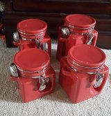 OGGI 4 pc Canister Set-Red in Chicago, Illinois