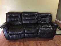 Black couch and chair in Fort Leonard Wood, Missouri