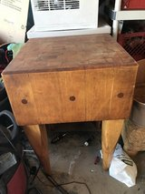 Antique Wooden Chop Block Table in Bolingbrook, Illinois