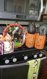 Halloween decorations for yard home in Algonquin, Illinois