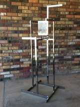 ADJUSTABLE CLOTHING RACK WITH SIGN HOLDER in Alamogordo, New Mexico