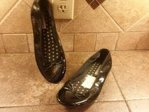 Black slip on shoes---super cute…size 8 1/2 in Baytown, Texas