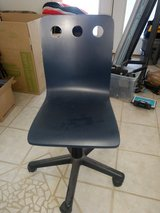 Wooden office chair navy blue in Alamogordo, New Mexico
