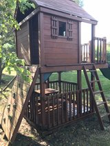 swing set with play house in Bolingbrook, Illinois