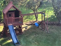 swing set with playhouse in Bolingbrook, Illinois