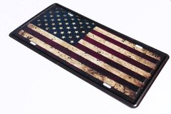 Distressed American Flag License Plate in Fort Rucker, Alabama