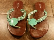 Size 6 teal sandals---wore once in Pasadena, Texas