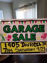 Garage sale this Saturday 9/23 At 7am 1905 Daffodil Dr. in Wright-Patterson AFB, Ohio