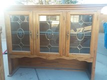 All wood china cabinet in Barstow, California