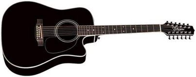 Takamine EF381SC 12-string - Black in Okinawa, Japan