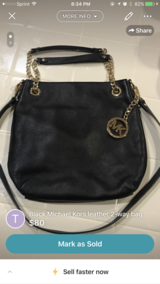 Michale kors leather bag in Travis AFB, California