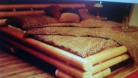 Real Bamboo Kingsize Bed in Ramstein, Germany