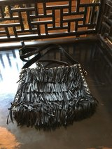Black fringe purse with adjustable/removeable strap in Ramstein, Germany