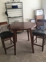 counter height table and 2 counter height chairs in St. Charles, Illinois