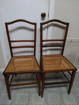 Cane Seat Wood Chairs - A Pair in Kingwood, Texas