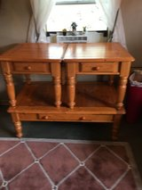 "Coffee table with draw. 30""deep 48""long 17""tall  nottypine.  2 end table.  23""wide 27""deep 21""tall in Spring, Texas"