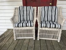 Very nice wicker chairs new cushions in Cleveland, Texas