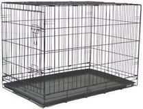 Heavy Duty Foldable Double Door Dog Crateand Removable ABS Plastic Tray 30 H X 42 L X 27 W inches in Ramstein, Germany