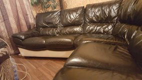 Leather corner couch in Lakenheath, UK