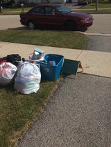 free stuff at my garage sale is available today in St. Charles, Illinois