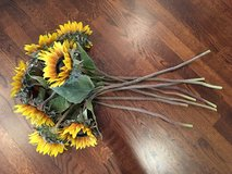 Bunch of Faux Sunflowers (8 in total) from Pottery Barn in Batavia, Illinois