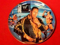 The Rock Porcelain Collector Plate SUPERSTARS OF THE WORLD WRESTLING in Vacaville, California