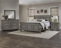 New Arrival - King Antique Pewter 5pc Bedroom in Beaufort, South Carolina
