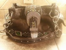 Brown leather purse with bling rhinestones…NICE in Pasadena, Texas