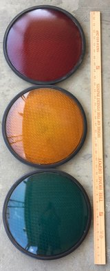 Traffic light lens in Vacaville, California