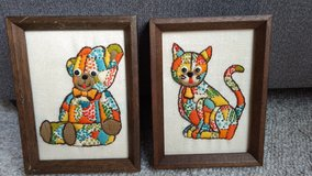 Vintage needlepoint pictures in Glendale Heights, Illinois