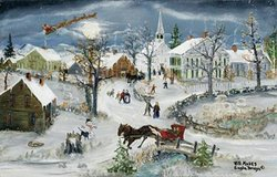 """Will Moses """"Christmas Eve Service"""" - Signed and Numbered with COA in Naperville, Illinois"""