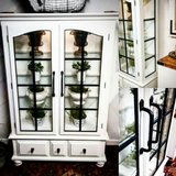 Sophisticated farmhouse China cabinet in St. Charles, Illinois