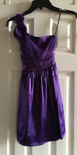 Purple one-shoulder strap Dance Dress in Perry, Georgia