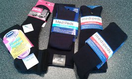 9 NEW Pairs Of Women's Black Socks-(Dr. Scholl's, Peds, Med Peds & APT. 9) in Naperville, Illinois